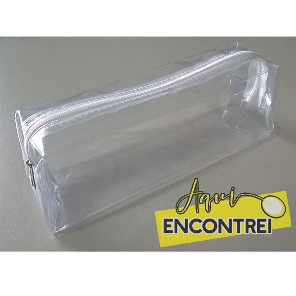 e5d9f48db Ref 865 Estojo Transparente 20 x 6 x 6 | Fabricação de brindes e ...