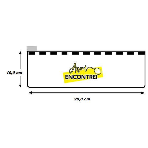 602029f2a68ff Estojo Zip Zap transparente 20 x 10. pasta-20×10
